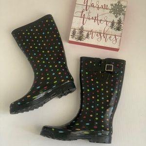 Merona Tall Rubber Polka Dot Rain Boots